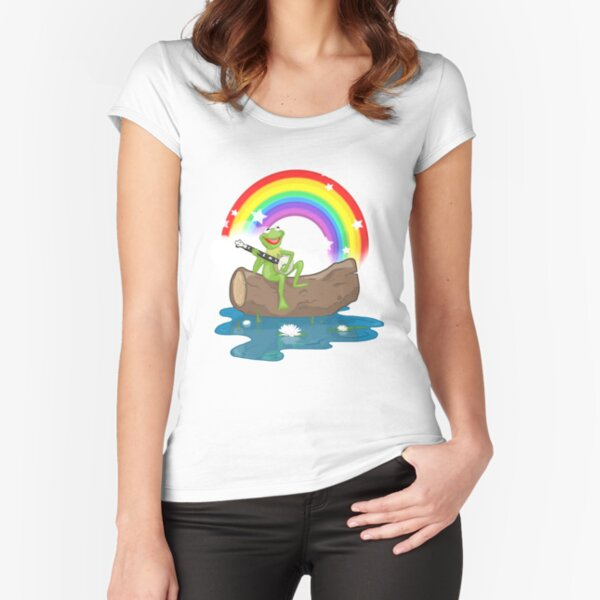 The Rainbow Connection Fitted Scoop T-Shirt