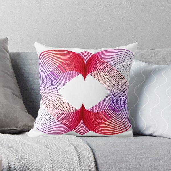 Geometrico Corazon amoroso rojo  rosado Cojín