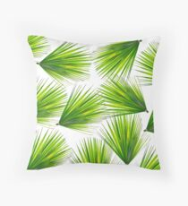 Tropical Exotic Hawaiian Palm Fronds Throw Pillow