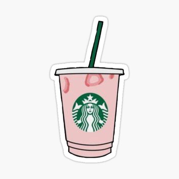 Bebida rosa de Starbucks Pegatina