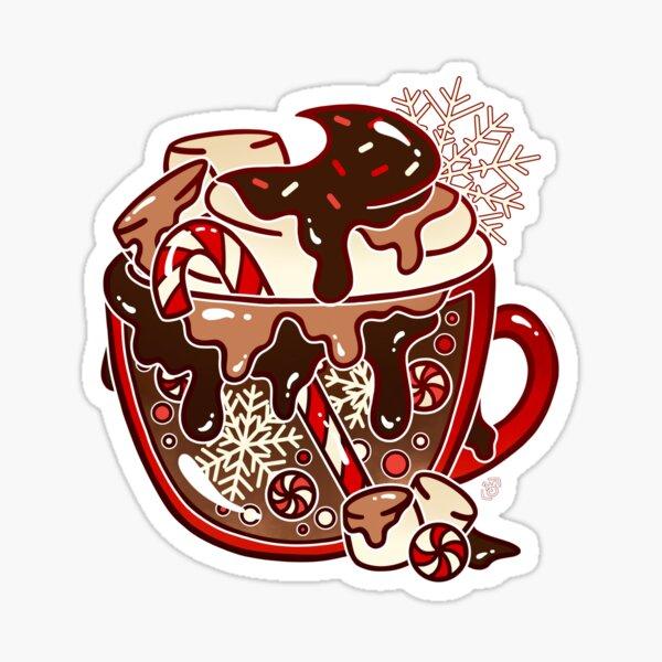 Glass Hot Chocolate Sticker