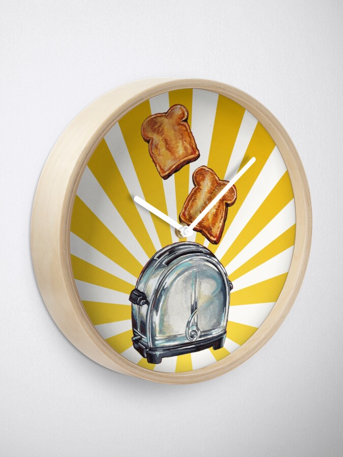Alternate view of Toast and Toaster Clock