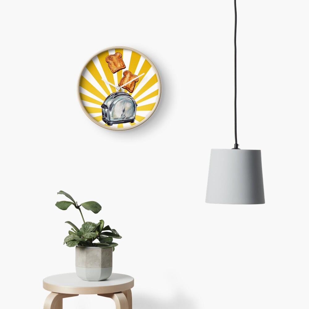 Toast and Toaster Clock