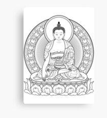 buddha outline Canvas Print