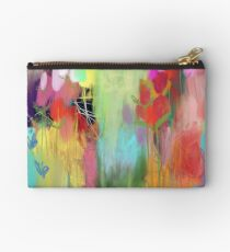 Red Flower Candy Meadow Zipper Pouch