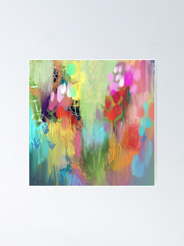 Alternate view of Red Flower Candy Meadow Poster
