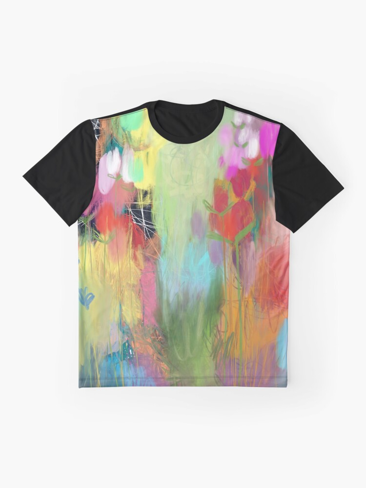 Alternate view of Red Flower Candy Meadow Graphic T-Shirt
