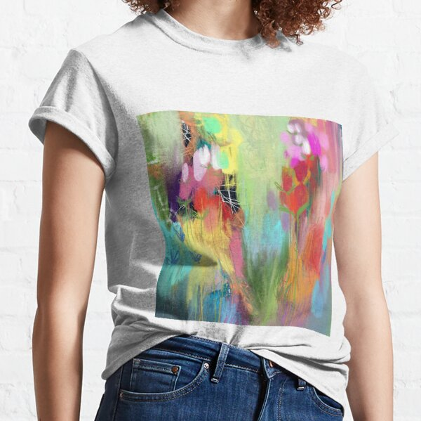 Red Flower Candy Meadow Classic T-Shirt