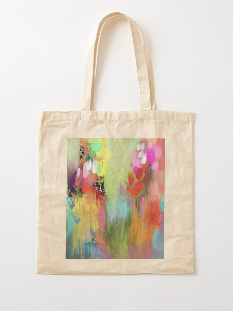 Alternate view of Red Flower Candy Meadow Tote Bag
