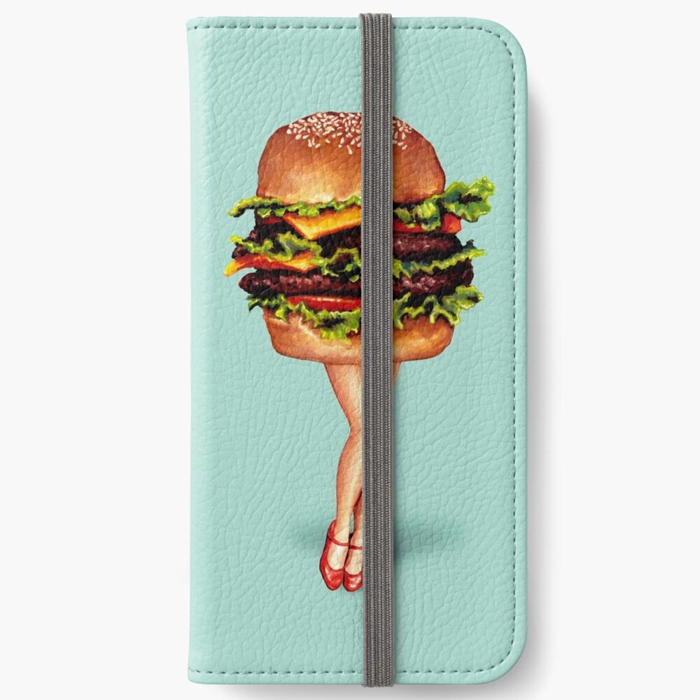 """Stacked"" - Cheeseburger Girl iPhone Wallet"