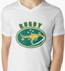 Rugby Wallabies Australia Men's V-Neck T-Shirt