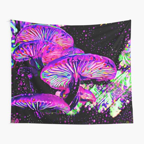 Glowlight Mushrooms Tapestry