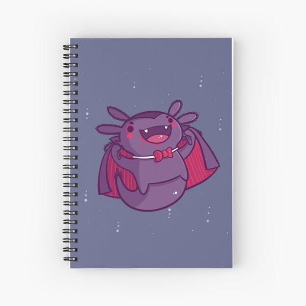 Halloween Axolotl - Vampire! Spiral Notebook