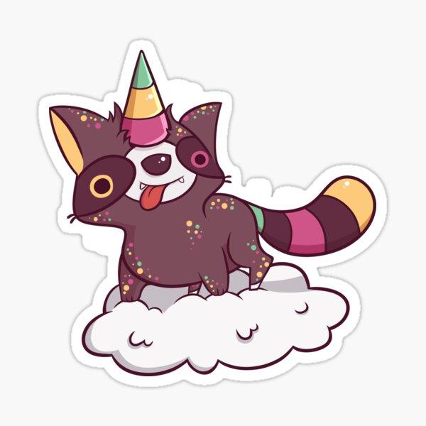 Raccoonycorn! Sticker