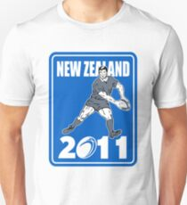 rugby player passing ball New Zealand 2011 Unisex T-Shirt