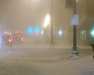 Downtown Lockport Frozen Nearly Solid by MarjorieB