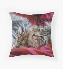 Emma Cat Playing Throw Pillow
