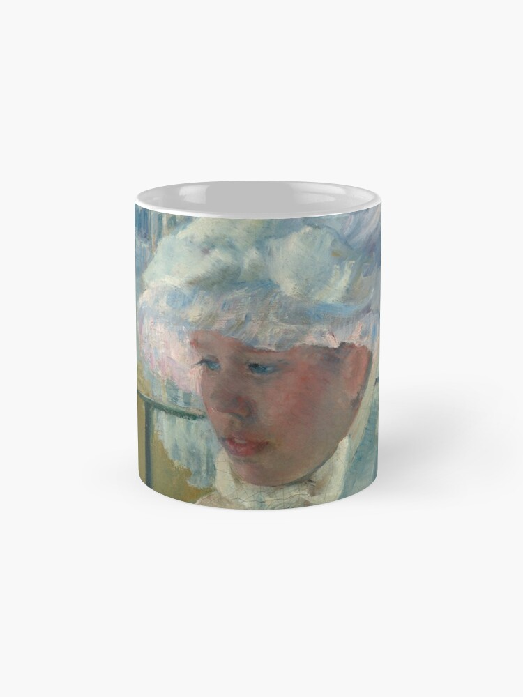 Alternate view of  Young Girl at a Window With Dog Oil Painting by Mary Stevenson Cassatt Mug
