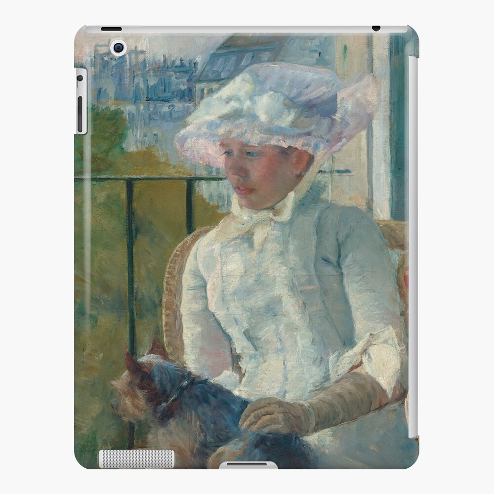 Young Girl at a Window With Dog Oil Painting by Mary Stevenson Cassatt iPad Case & Skin