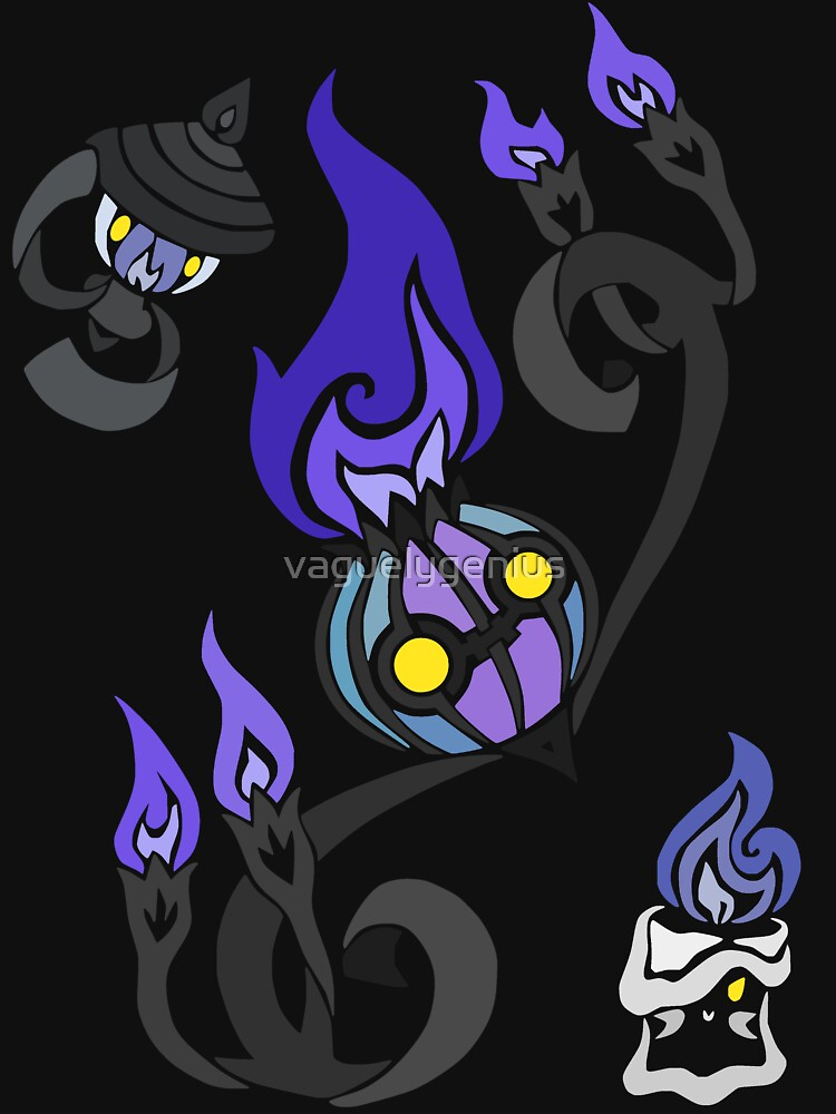 Flames of the Forgotten - Chandelure, Lampent and Litwick by vaguelygenius