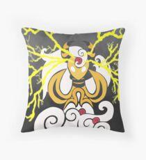 Tribalish Mega Ampharos - Eye of the Storm Throw Pillow