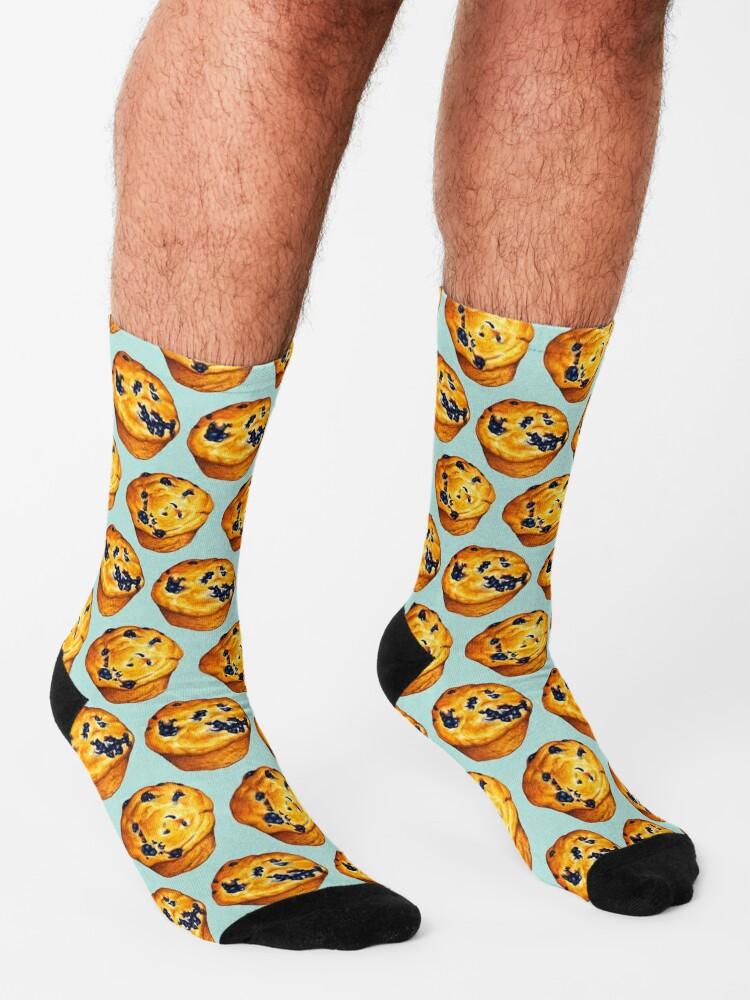 Alternate view of Blueberry Muffin Pattern Socks