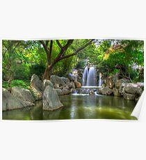 Chinese Garden of Friendship Waterfall Poster