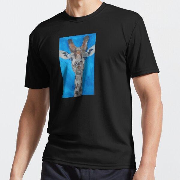 Blue Giraffe Active T-Shirt