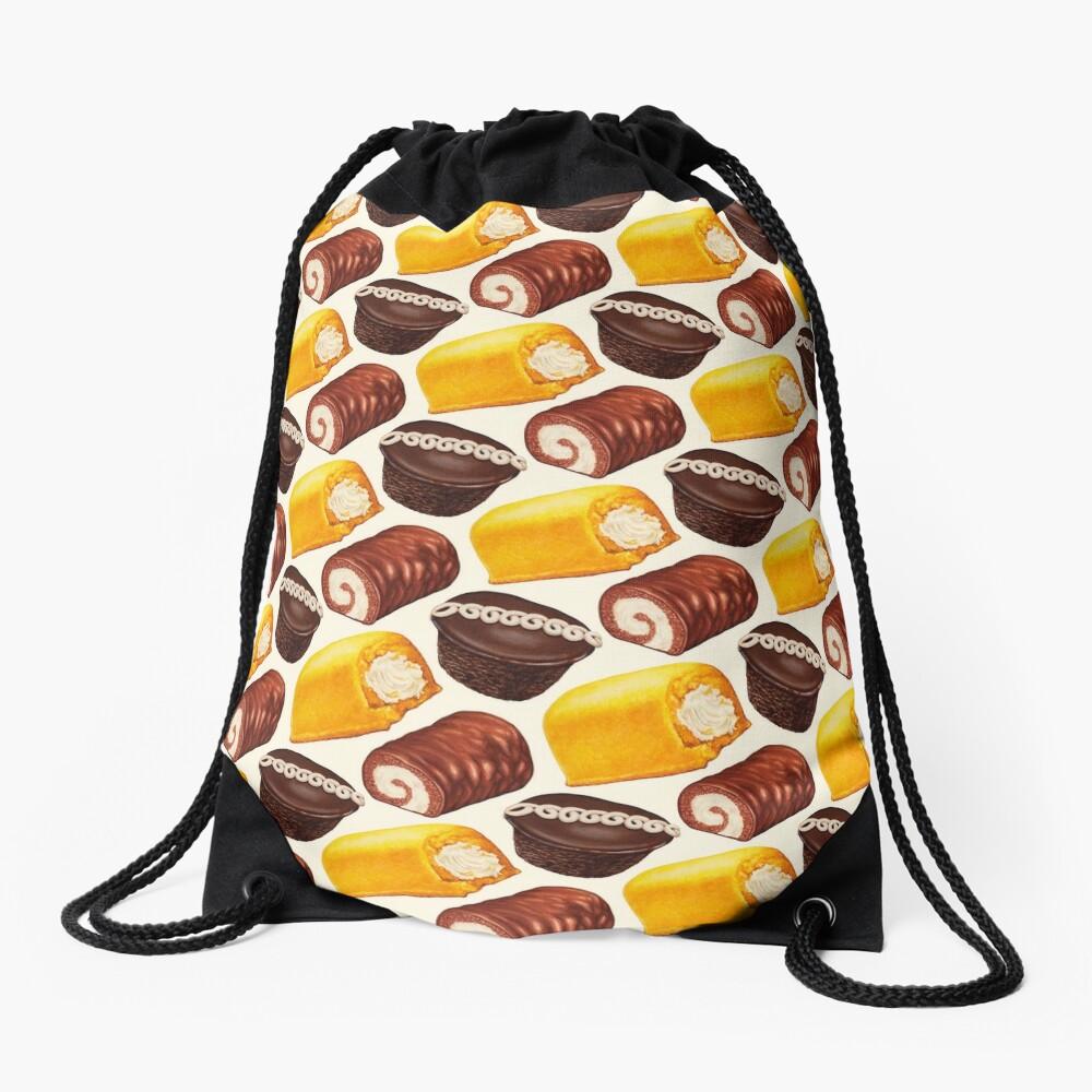 Hostess Cakes Pattern Drawstring Bag