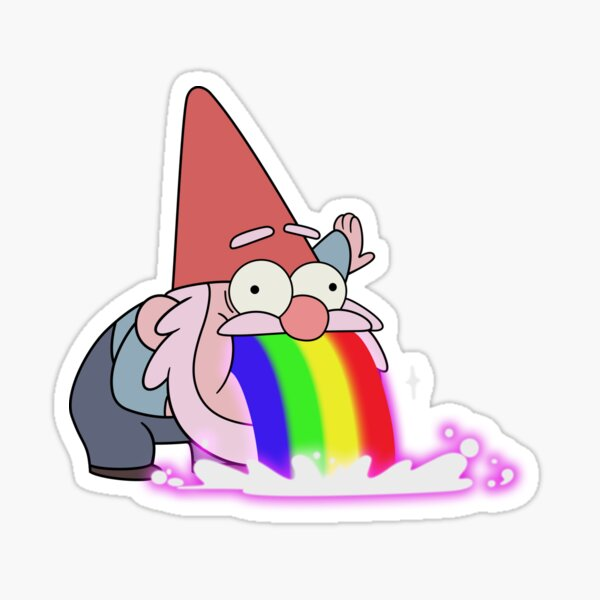Vomissement Gnome- Gravity Falls Sticker