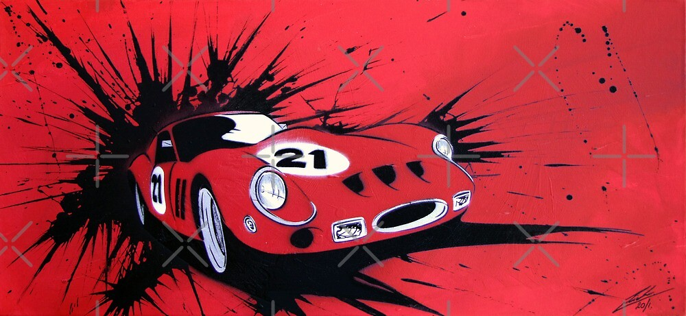 250GTO #21 Painting by Richard Yeomans