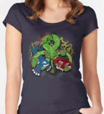 Rayquaza, Kyogre, & Groudon - Hoenn Remake Ahoy! Fitted Scoop T-Shirt