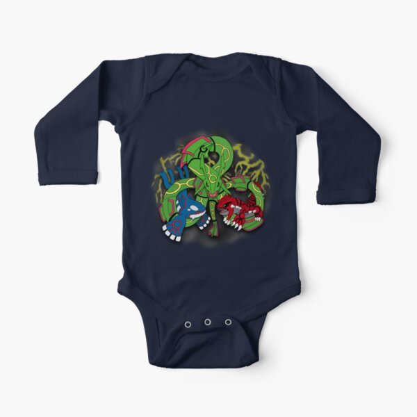 Rayquaza, Kyogre, & Groudon - Hoenn Remake Ahoy! Long Sleeve Baby One-Piece