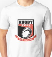 new zealand 2011 rugby ball and shield Unisex T-Shirt