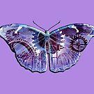 Steampunk Butterfly - Blue and Purple by RetroArtFactory