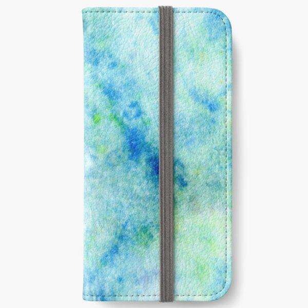 Ocean DyeBlot iPhone Wallet
