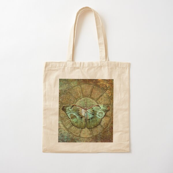 Steampunk Butterfly Cotton Tote Bag