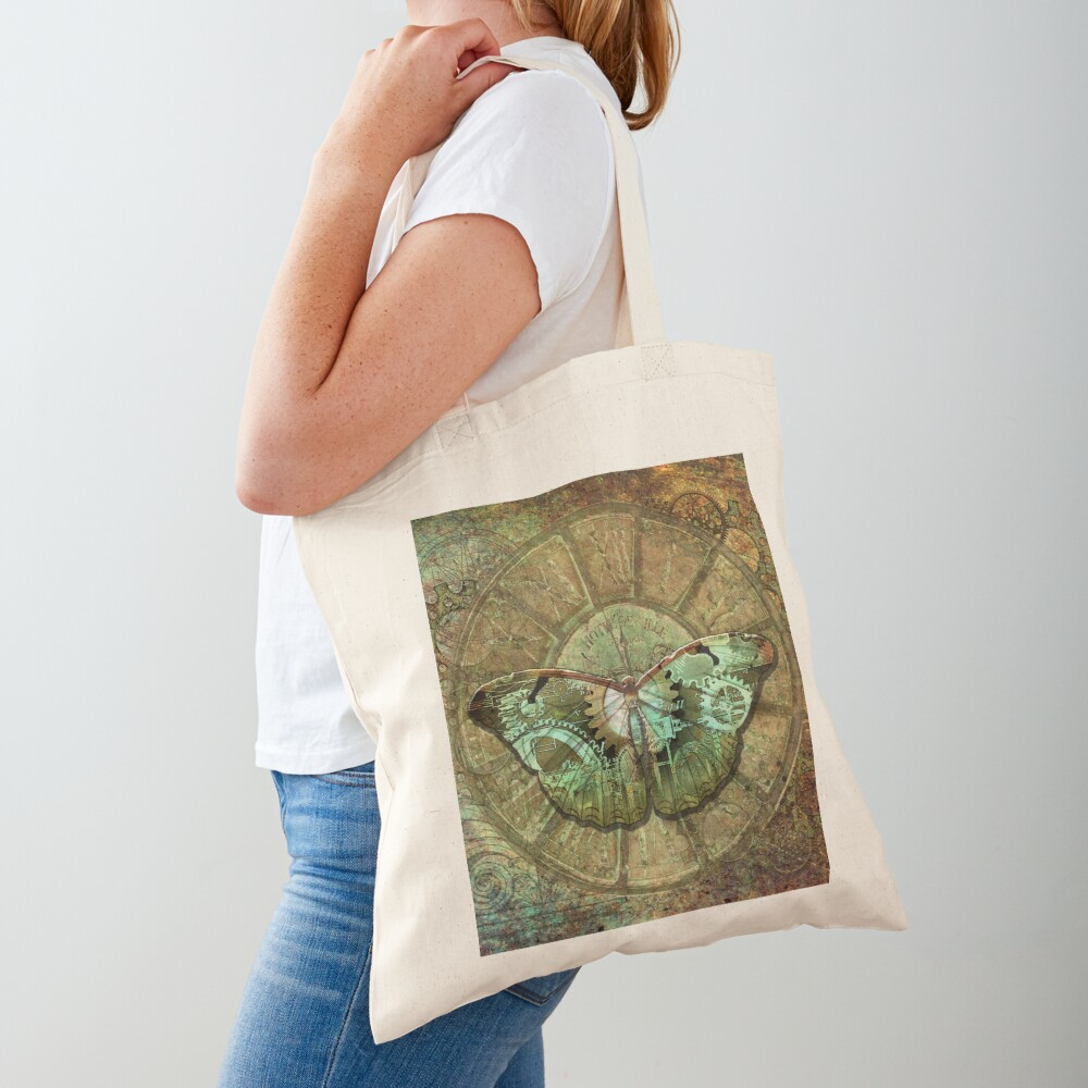 Steampunk Butterfly Tote Bag