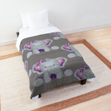 Purple Girl Elephant Comforter