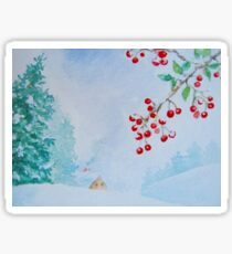 Snow on the Berries Sticker