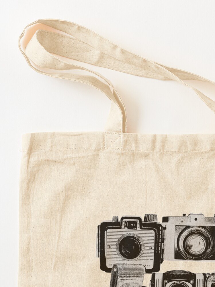 Alternate view of Vintage Camera Collage in Reverse Print Tote Bag
