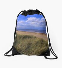 Salty Dreams and Sand Dunes : Marske on Sea, North Yorkshire, England Drawstring Bag