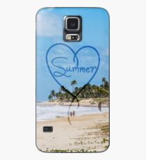 """Painted """"Summer"""" Heart Typography Beach Scene  Case/Skin for Samsung Galaxy"""