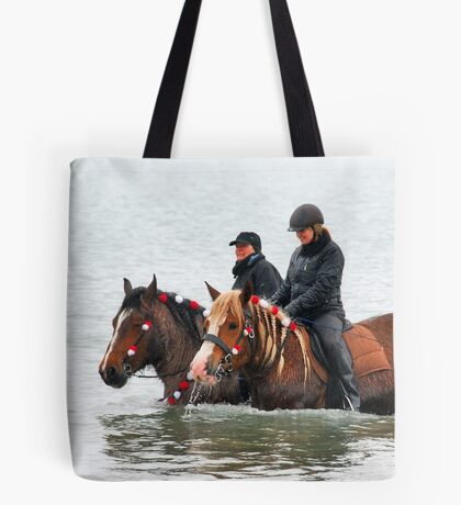 Wet horse legs..... Tote Bag