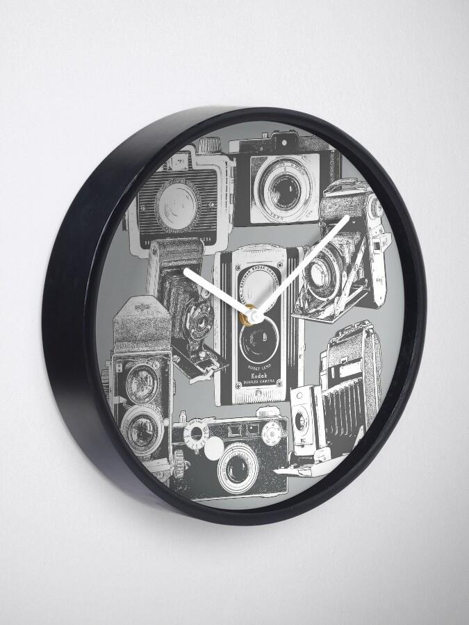 Alternate view of Vintage Camera Collage Clock