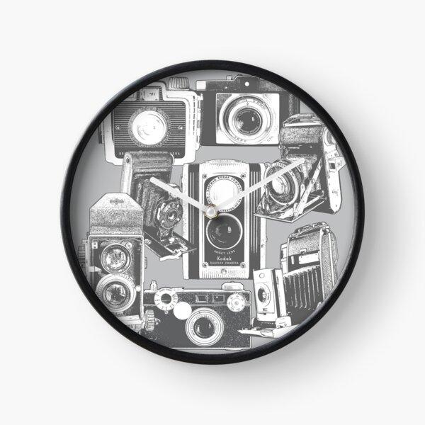 Vintage Camera Collage Clock