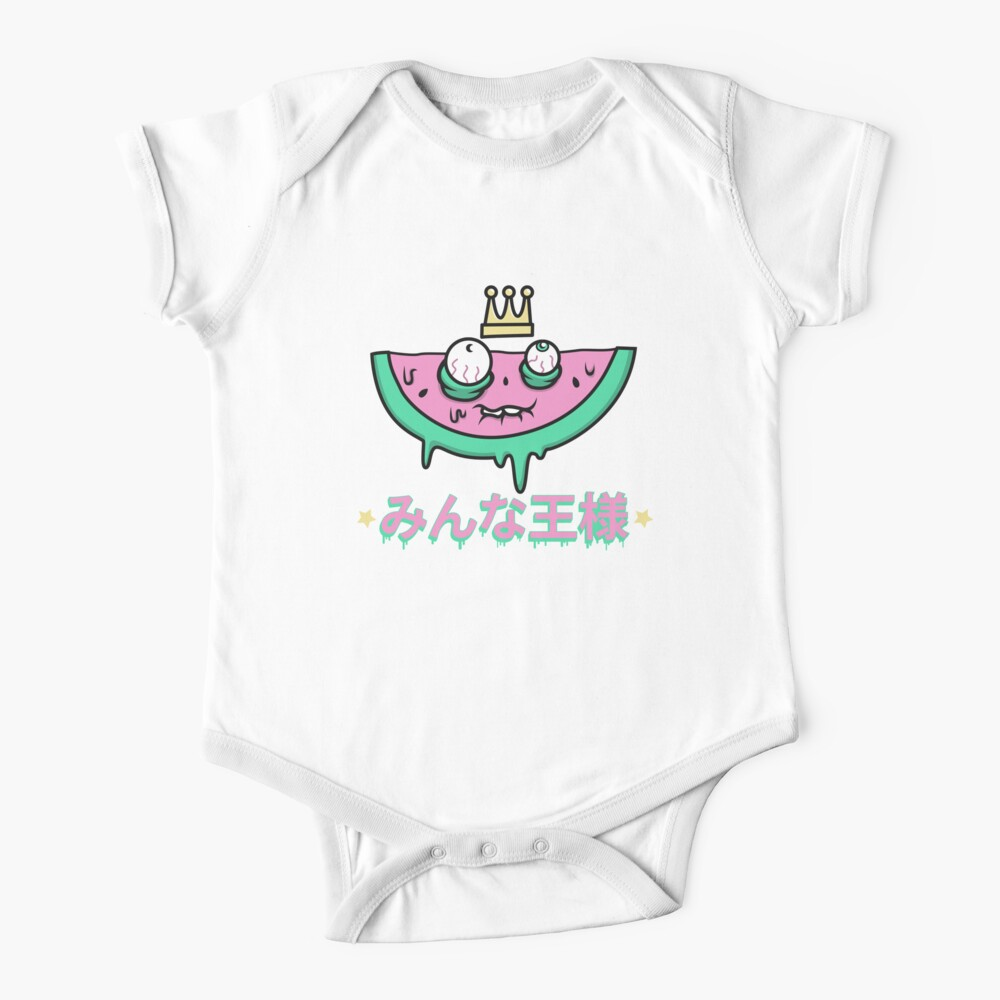 All Hail to the Watermelon King Short Sleeve Baby One-Piece