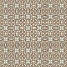 Brown and Blue Geometric Pattern by Cherie Balowski