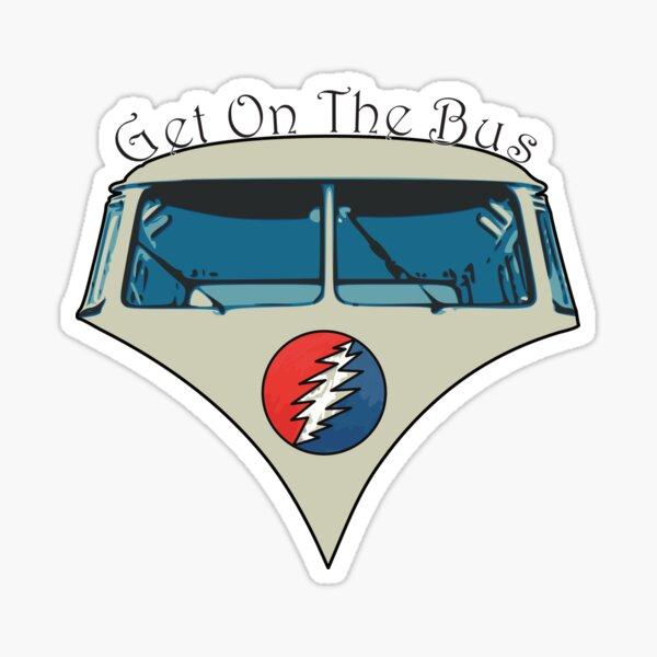 Get On The Bus with text Sticker