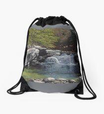 """""""Bartlett's Falls"""" Bristol Vermont painting by Reed Prescott Drawstring Bag"""
